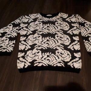 Other - Eye poppers Black and White Knit Sweater